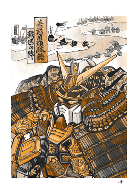 gundam samurai gold