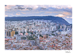 Cityscape Aerial View Quito, Ecuador
