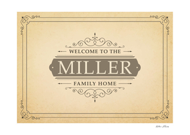 Welcome to the Miller Family Home