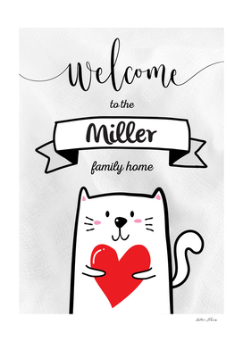 Welcome to the Miller Family Home Cat