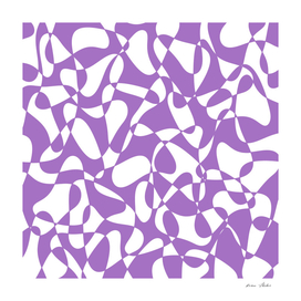 Abstract pattern - purple and white.