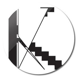 Typography letter K