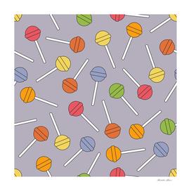 Happy Lollipops Sugar Candy Blue Background