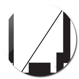 Typography letter V