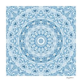 Faded Blue Mandala