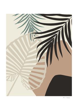 Minimal Tropical Palm Leaf Finesse #1 #tropical #decor #art
