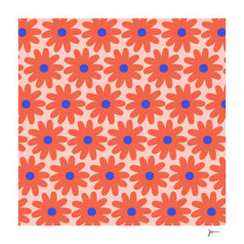 Crayon Flowers 2 Cheerful Floral Pattern Millennial Pink