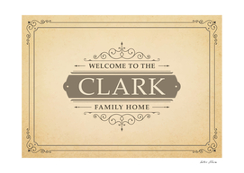 Welcome to the Clark Family Home