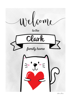 Welcome to the Clark Family Home Cat