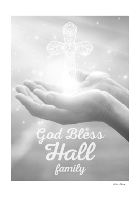 God Bless Hall Family Cross