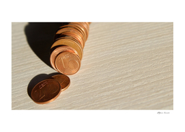 Euro cent coins - donation and offers for emergencies