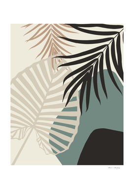 Minimal Tropical Palm Leaf Finesse #2 #tropical #decor #art