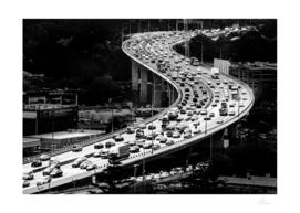 Highway traffic snake