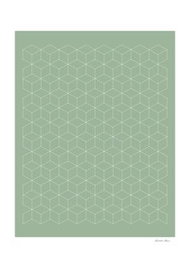 Sashiko stitching Green pattern 1