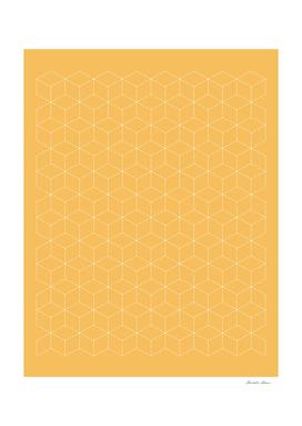 Sashiko stitching Yellow/Ochre/Ocher pattern