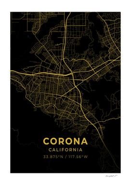 Corona City Map