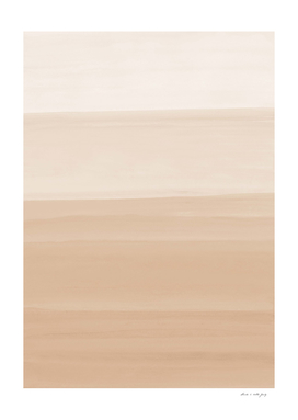 Touching Warm Beige Watercolor Abstract #1 #painting #decor