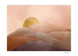 Terracotta sunrise I