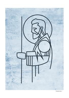 Saint Joseph digital illustration