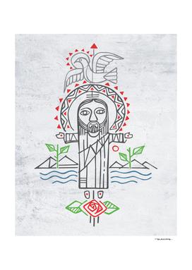 Jesus Christ and indigenous symbols