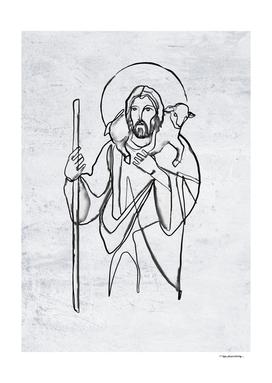 Jesus Christ watercolor illustration