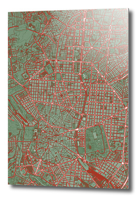 Madrid city map pop