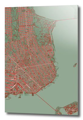 San Francisco city map pop