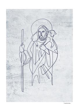 2020 Jesus Buen Pastor uniline simple textura