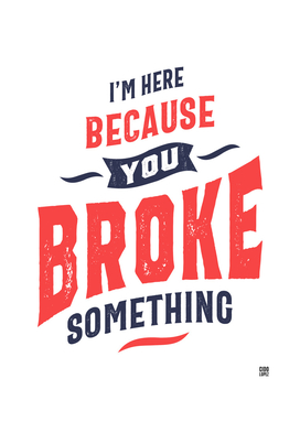I'm Here Because You Broke Something Funny Gift
