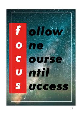 follow one course