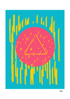 Pop-Pyramid Graphic Flashy 80's