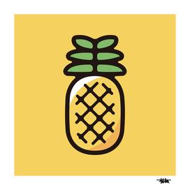 Pineapple : Minimalistic icon series