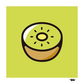 Kiwifruit : Minimalistic icon series