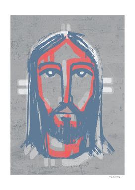 Jesus Christ Face ink digital drawing