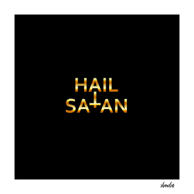 Hail Satan- Golden Antichrist quote with occult