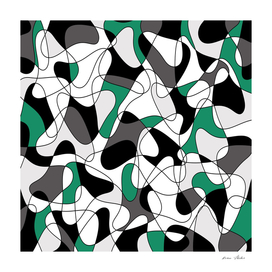 Abstract pattern - green, gray, black and white.