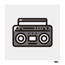 Boombox : Minimalistic icon series