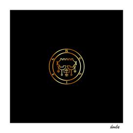 Seal of Belial or Sigil of Belial in gold