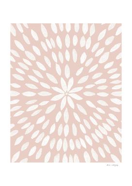 Mandala Flower #7 #pale #terracotta #drawing #decor #art