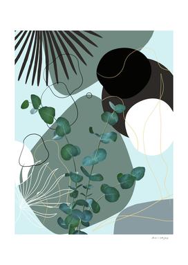 Eucalyptus Fan Palm Finesse #2 #tropical #decor #art