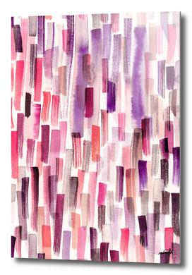 Pink watercolor brushstrokes