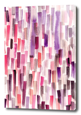 Pink watercolor brushstrokes