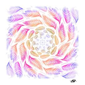 Early Sunrise Feather Mandala - Free Spirit