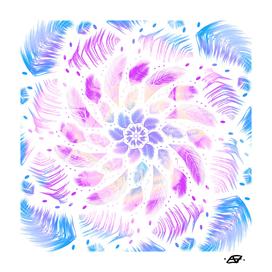 Feathery Iridescent Mandala - Positive Boho Vibes