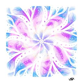Iridescent Feathers Mandala - Boho Free Spirit