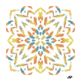 Painterly Ethnic Mandala Art - Portuguese Tile Style