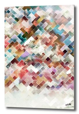 Moody geometric watercolor