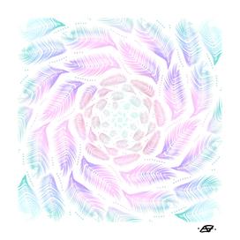 Iridescent Feathery Mandala - Free Spirit