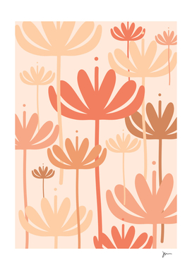Bali Flowers Floral Pattern in Millennial Pink