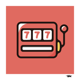Slot machine : Minimalistic icon series